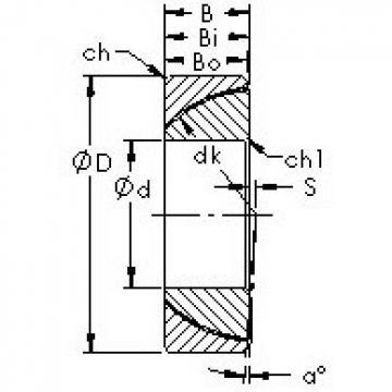AST GAC100T AST Bearing