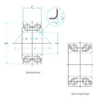 40 mm x 80 mm x 36 mm  CYSD DAC4080036/34 CYSD Bearing