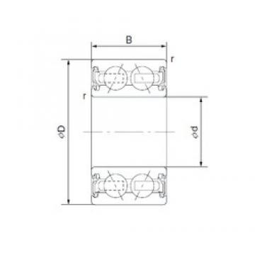 40 mm x 62 mm x 24 mm  CYSD 4608-1AC2RS CYSD Bearing