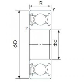 22,225 mm x 47,625 mm x 12,7 mm  CYSD R14-RS CYSD Bearing