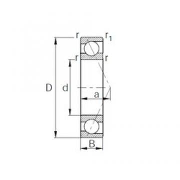 80 mm x 140 mm x 26 mm  CYSD 7216B CYSD Bearing