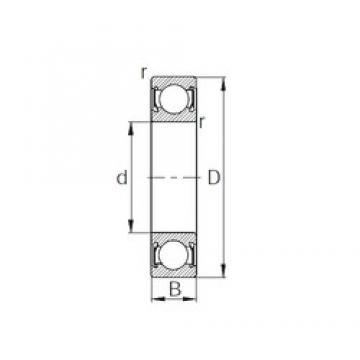25,4 mm x 50,8 mm x 12,7 mm  CYSD R16-2RS CYSD Bearing