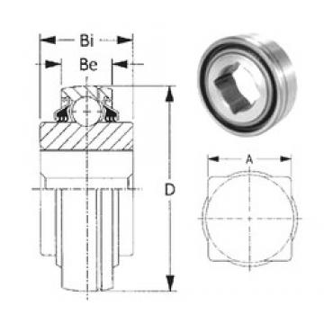 38,1 mm x 100 mm x 44,45 mm  CYSD GW211PPB17 CYSD Bearing